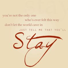 """""""Stay"""" - Nick Jonas"""