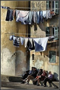 Italy - you see this all over the city, really quite charming.