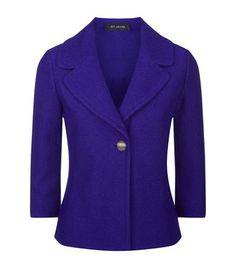 St. John Newport Knit Jacket Blue | Harrods