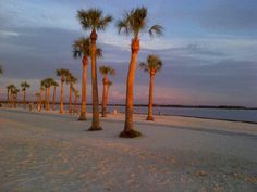 Pine Island beach at sunset