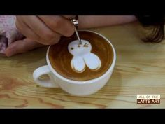 앤씨즈 라떼아트 꽃 만들기 - YouTube #latteart