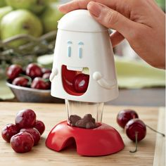 Cherry Chomper - Talisman: The fun and easy way to pit cherries and olives. Safe for kids and adults.