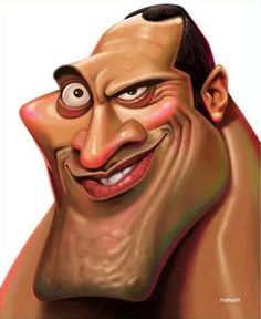 (The Rock) Dwayne Johnson (Caricature) Dunway Enterprises - http://www.learn-to-draw.org/caricatures_clb.html?hop=dunway