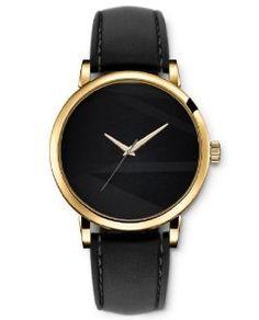 SPRAWL Design Damenuhr Damen Uhr Quarz Analog Golden Schwarze Leder Damen Armbanduhr mädchen geschenke Kinderuhr Dekoration Uhr Uhren Women Ladies Watch mit Straßenbeschaffenheit in der Dunkelheit: SPRAWL: Amazon.de: Uhren