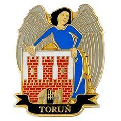 Escudo de armas de Magnes Toruń.  Imán en forma de escudo de la ciudad de Toruń.  #toruń #imán #imándenevera #escudodearmas Saint Christopher, Gadgets, Metallica, Licence Plates, Cool Gadgets, Pine, Buttons, City, Collar Pin