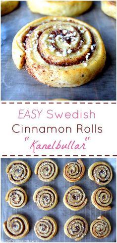 Best EASY Swedish Cinnamon Rolls Kanelbullar | Del's cooking twist