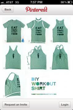 Turn t-shirt to tank top!!!
