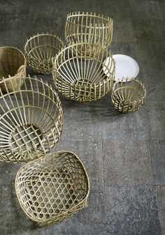 Tine K Home BASDOME baskets Perfect for storage - or turn it upside down and use it as a simple lampshade. The bamboo sticks will show the most amazing shadow effect.