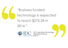 IDC's New Buyer Technology Spending Forecast; Business Technology Spending Market will Reach $330.4 billion by 2017