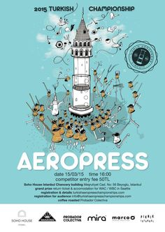 World AeroPress Championship Rad Coffee, Soho House Istanbul, Aeropress Coffee, Coffee Roasting, Barista, World, Posters, Events, French