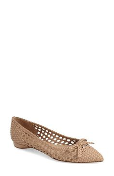Delman 'Shana' Pointy Toe Skimmer Flat (Women) available at #Nordstrom