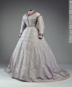 A silk day dress from 1868