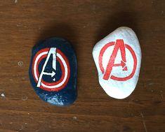 Avengers painted rocks