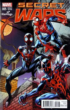 Secret Wars Hastings Exclusive Variant Cover by Mark Bagley Amazing Spiderman, All Spiderman, Batman, Hq Marvel, Disney Marvel, Marvel Heroes, Captain Marvel, Marvel Comic Character, Marvel Comic Books