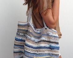 Boho Ibiza shoppingbag handmade natuurlijke materialen