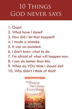 10 Things God Never Says