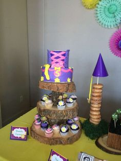 Tangled birthday party cake!  See more party planning ideas at CatchMyParty.com!