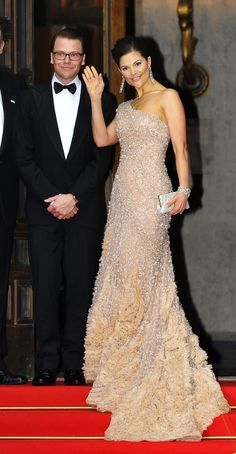 Princess Victoria in a gorgeous Elie Saab dress