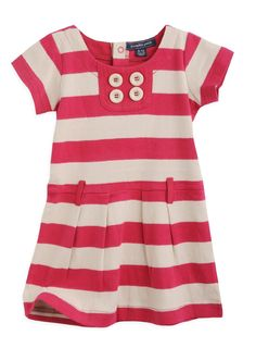 Pumpkin Patch Baby Girl's Block Stripe Dress Red Rose 6 - 12 Months: Amazon.co.uk: Clothing