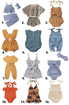 Baby Girl Summer Fashion : Amazon Favorites