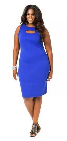 d73cd6957229 Peak a boo blue dress. Curvy DressI DressTrendy FashionFashion ModelsPlus  Size FashionGirl FashionAshley StewartBeautiful ...