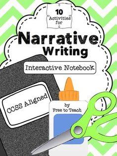 Narrative Writing Interactive Notebook Activities Interactive Writing Notebook, Narrative Writing, Informational Writing, Opinion Writing, Interactive Notebooks, Informative Writing, Writing Genres, Work On Writing, Writing Workshop