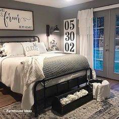 Modern Rustic Master Bedroom Decor and Design . Modern Rustic Master Bedroom Decor and Design ~ Bea Farmhouse Master Bedroom, Master Bedroom Makeover, Master Bedroom Design, Home Bedroom, Modern Bedroom, Contemporary Bedroom, Master Suite, Master Bedroom Decorating Ideas, Bedroom Rustic