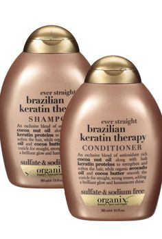 Organix Brazilian Keratin Therapy Shampoo and Conditioner , The Best Organic Shampoo And Conditioner Products