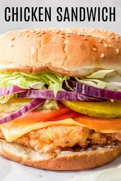 The BEST homemade juicy and tender buttermilk chicken sandwich recipe that is great for lunch or dinner. #valentinascorner #chicken #chickensandwich #sandwich #sandwichrecipe #dinner