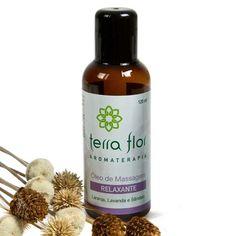 Óleo Aromático de Massagem Relaxante - Terra Flor Aromaterapia www.terra-flor.com
