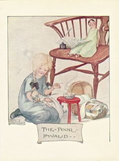 Early 20th century Illustration by Anne Anderson from an Ephemera Grab Bag on Children's Book Illustrations.