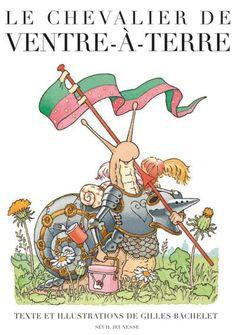 Oyez, oyez braves gens ! Le chevalier de ventre-à-Terre, escargot de son état, part à la guerre combattre son rival Corne-Molle. Mais avant de partir il y a de nombreux détails à régler : prendre le petit déjeuner, embrasser sa femme et ses enfants, délivrer une princesse, faire une petite partie d'échecs... Et quand il arrive sur le champ de bataille, on n'attend plus que lui. La guerre peut commencer. Enfin presque…  A partir de 4 ans.
