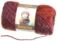 Lion Brand Yarn 825-201Ad Amazing Yarn, Ruby $8.90