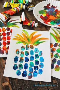 diy-kids-pineapple-thumbprint-art