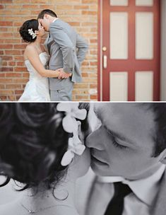 did this groom take lessons in hot kissing photography? damn.