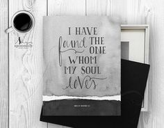 Song of Solomon 3:4 Art Wall Decor Print Bible Verse by SpoonLily