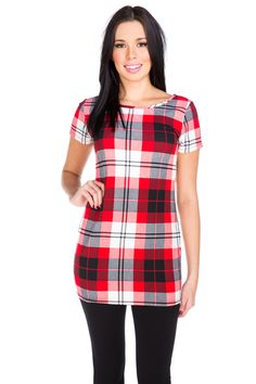 Plaid Liverpool Short Sleeve Tunic