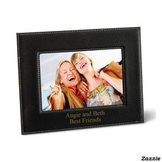 Personalized Black 5X7 Black Leatherette Frame