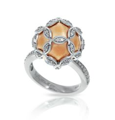 Vienna Rose Gold Ring by Belle Étoile.  Glam Style.  Silver Jewelry.  Rose Gold.  Fashion Jewelry.