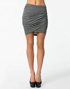 NLY Trend Women's Craving Skirt Grey Size X-Small 55% cotton and 45% polyester. black is NLY Trend http://www.amazon.com/dp/B00LLI64Y6/ref=cm_sw_r_pi_dp_RhXPvb11CZ55B