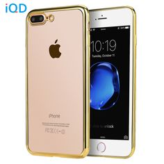 quality design c4c66 cb0c3 IQD For iPhone 6 6s 7 plus Bumper Case Slim Cases Scratch Resistant Silicon  Back Panel Cover for Apple iPhone 7 Bumper-in Phone Bumper from Cellphones  ...