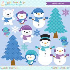 Snow Buddies Digital Clip Art - Cliparts - Mygrafico.com