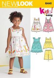 patron de robe, tunique et bermuda bébé et fillette facile