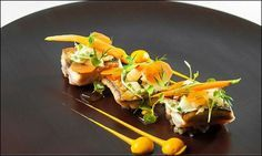 From Pied-a-terre .co .uk L'art de dresser et présenter une assiette comme un chef de la gastronomie...  http://visionsgourmandes.com  http://www.facebook.com/VisionsGourmandes . Photo à aimer et à partager ! ;) #gastronomie #gastronomy #chef #presentation #presenter #decorer #plating #recette #food #dressage #assiette #artculinaire