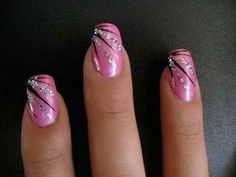 25 rosa Nageldesigns Source by Perfect Nail Art Hacks for Perfect Manicure By applying a single coat, you will experience difficult times without making a dirty mess. Pink Glitter Nails, Pink Nail Art, Fancy Nails, Trendy Nails, Blue Glitter, Nail Art With Glitter, Nail Designs With Glitter, Pink Black Nails, Glitter Pedicure