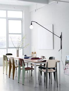 Potence Light by Jean Prouve Standard Chair by jean Prouve