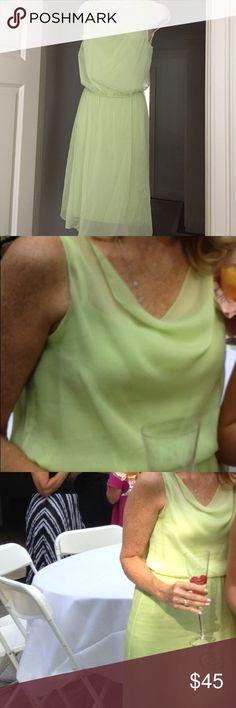 ELIE TAHARI - Light Green Dress. Light Green Dress. Rayon. Just Like New. Worn Once. ELIE TAHARI Size XS Elie Tahari Dresses