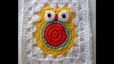 heart granny square crochet - YouTube