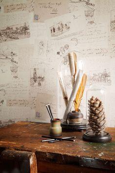 Meer dan 1000 idee n over boek behang op pinterest boekenplanken toilet beneden en kaart - Ideeen deco blijven ...