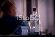 Fotografía Gema Ibarra: Empty Glass vodka bottle - Stock Image